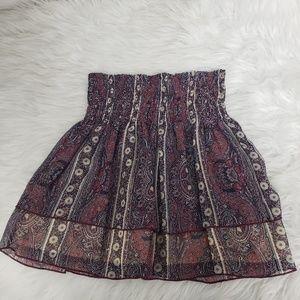 Abercrombie & Fitch Purple Paisley Mini Skirt
